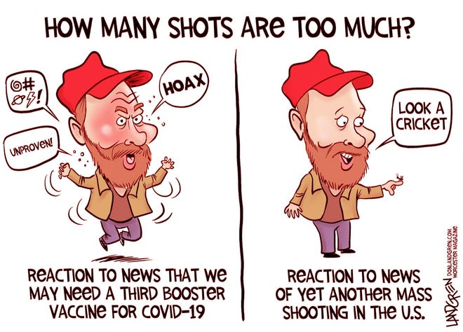 Reactions to more shots.