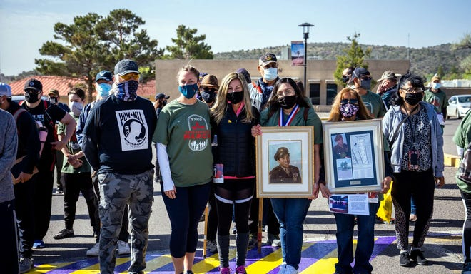 Many who attended and participated in Saturday's Remembrance March to honor the Bataan Death March did so in memory of loved ones who served, or are serving, in the Armed Forces.
