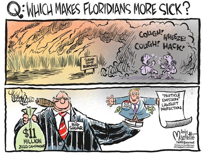Marlette cartoon: Florida legislators protect polluters over the people.
