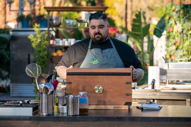 Phoenix cannabis chef Derek Upton, as seen on Chopped 420, Season 1.