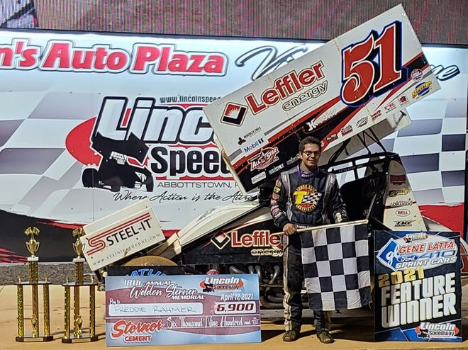 Freddie Rahmer, seen here in a file photo, won Saturday's 410 sprint feature at Lincoln Speedway.