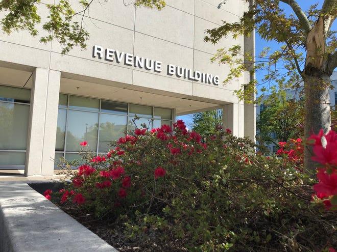The Oregon Department of Revenue Building photographed on April 16, 2021.