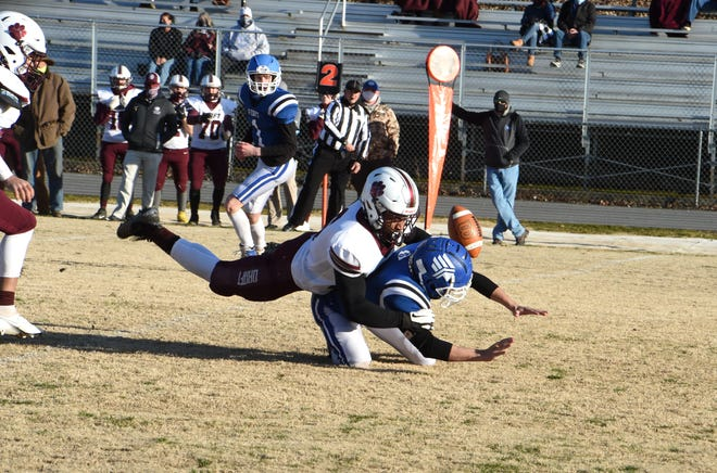 Stuarts Draft's Latrell Fomby is the Shenandoah District defensive player of the year.