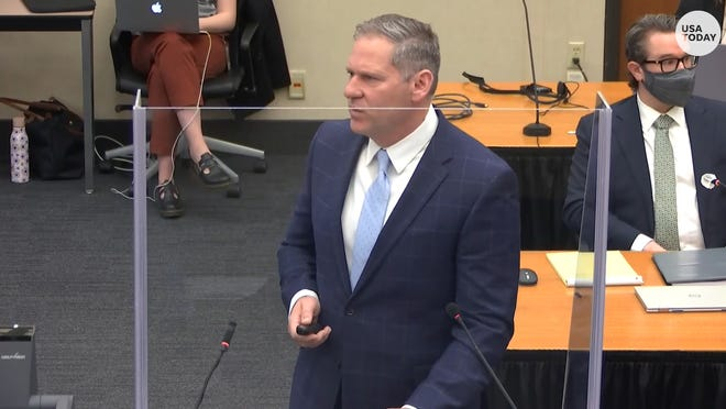 Closing arguments began in the trial of former Minneapolis police officer Derek Chauvin in the death of George Floyd.