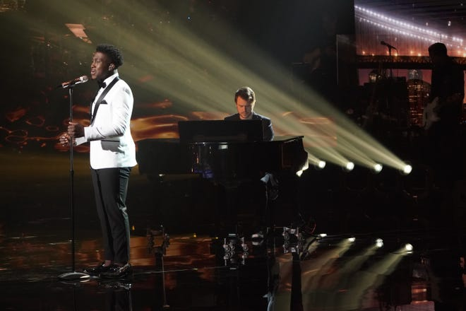 """College student Deshawn Goncalves, 20, showed a more classic side of his voice with Barbra Streisand's """"The Way We Were."""""""