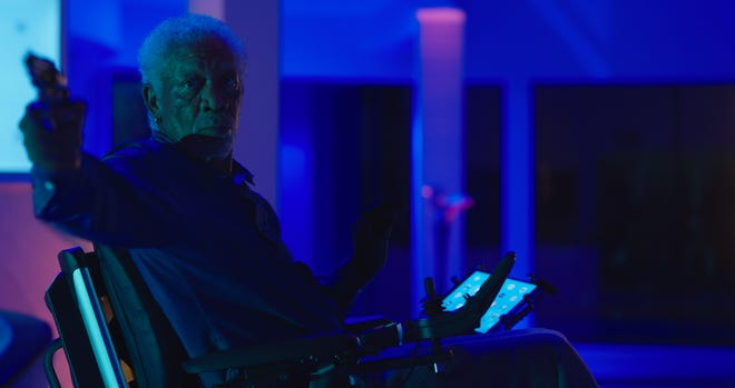 """Morgan Freeman plays a corrupt retired cop who wields an enormous amount of power in the action thriller """"Vanquish."""""""