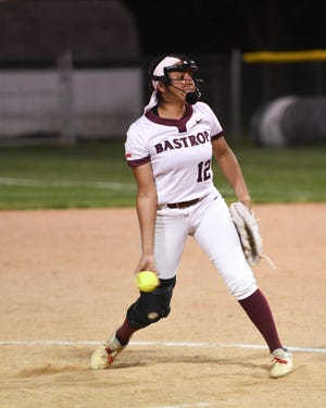 Bastrop pitcher Mayra Robles took the 3-1 loss versus Connally on April 13. She allowed eight hits and one run in seven innings, fanning seven.
