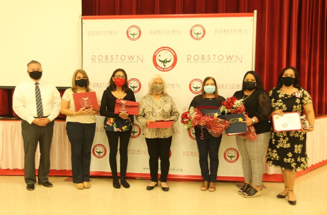 The Robstown ISD announced recipients of Teacher of the Year awards with two advancing to the regional honors.