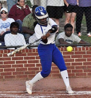 DeRidder's Carmen Major homered in the sixth inning of the Lady Dragons' win over Washington-Marion on Monday in the first round of the Class 4A playoffs, 9-4.