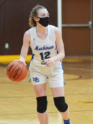 Sophomore guard Larissa Huffman was one of three Mackinaw City girls basketball players to earn Associated Press Division 4 All-State honors. Huffman, along with sophomore teammates Madison Smith and Marlie Postula, each received honorable mention recognition.