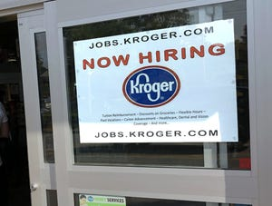 The Columbus area added 6,500 jobs in March as central Ohio's unemployment rate fell to 5%.