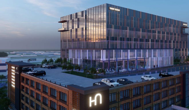 The offices at High North, shown here in a rendering, will replace the Shops at Worthington Place mall in Worthington.