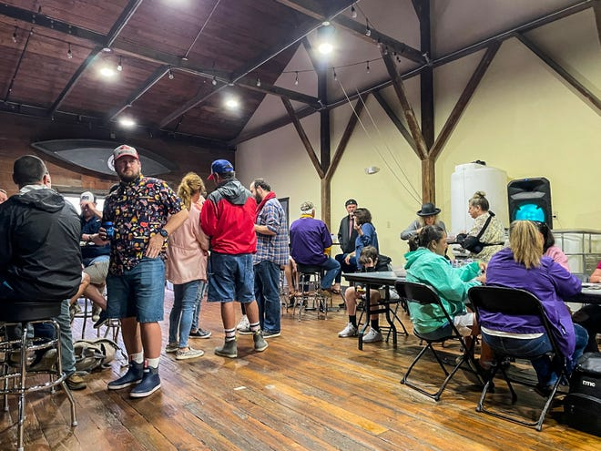Visitors gather at Bayou Terrebonne Distillers for April 17's inaugural Bayou Terrebonne Boucherie. The Houma whiskey maker is among bars and restaurants collaborating with Keep Terrebonne Beautiful in an effort to use fewer plastic straws.