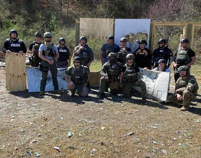 Law enforcement from Ohio and several other states recently converged on the range in Guernsey County for a 40-hour explosive handlers and breaching course taught by Tactical Energetic Entry Systems. The training was hosted by the Cambridge Police Department.