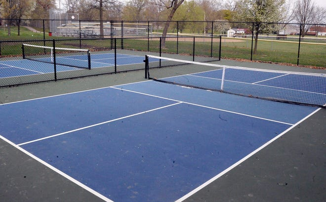 The new pickleball courts in Orr Park.