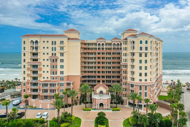The magnificent Spanish Mediterranean-style Bella Vista in Daytona Beach Shores will sweep you off your feet, with its grand-entrance lobby, private courtyard, oceanfront fitness center, paver-surrounded oceanfront pool and social suite, with gourmet kitchen.