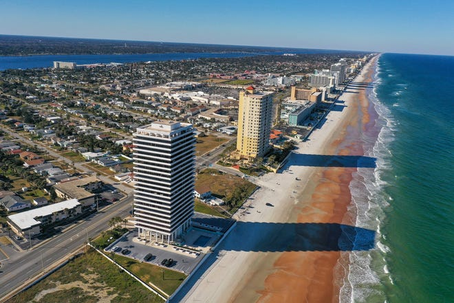 The Aliki Forum in Daytona Beach is home to this incredible condo, which offers some of the best sunrise and sunset views on the coast.