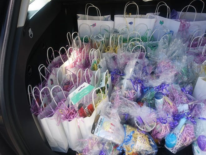 In early April, St. Andrew's Evangelical Lutheran Church in Dover donated 120 Care Bags toWhatcoatShelter, Shepherd's Place and Hopes & Dreams Resource Center in Dover.The care bags, containing personal care items, socks, candy, games, toys, palm and wooden crosses, were assembled by Kula Thompson-Williams, leader of St. Andrew's Faith Formation Committee.