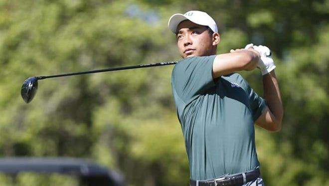 Jacksonville University's Michael Sakane led the ASUN golf tournament through 36 holes.