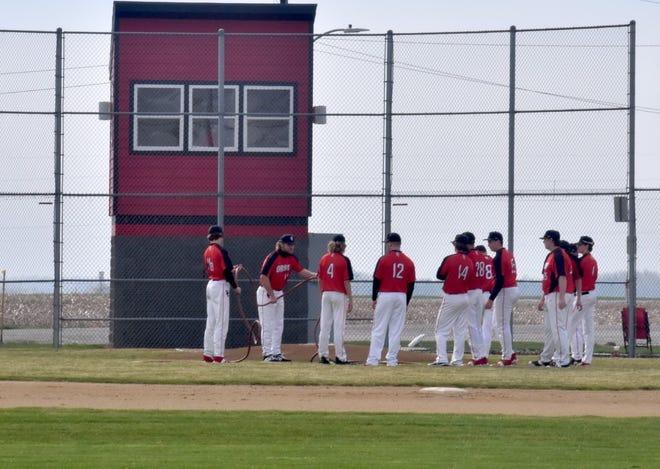Orion High School baseball diamond at Love Park.