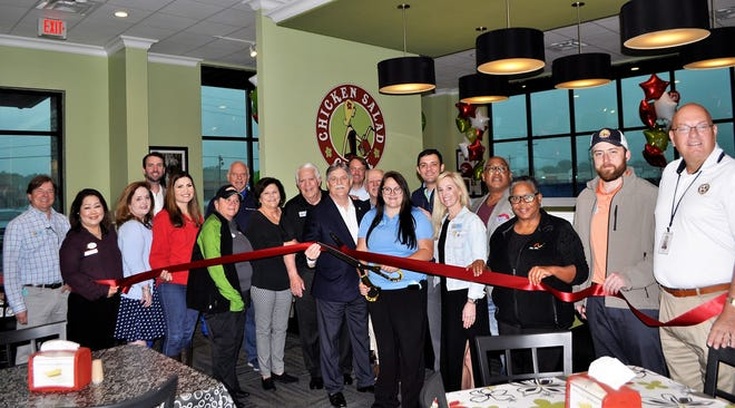 Chicken Salad Chick Gonzales held a ribbon-cutting ceremony the morning of April 14.