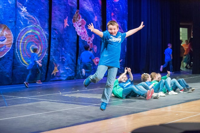 Art Sparks has worked with the third graders in the Akron and Cuyahoga Falls school districts for several years. This photo was taken of the final performance in 2019. This year, the performances will be screened virtually for families of the students.