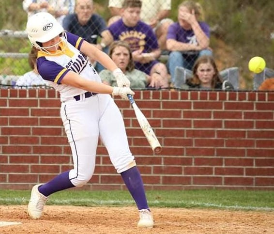 Anacoco's Jaiden Craft had two RBIs in the Lady Indians' 18-0 first-round playoff win on Monday over Maurepas.
