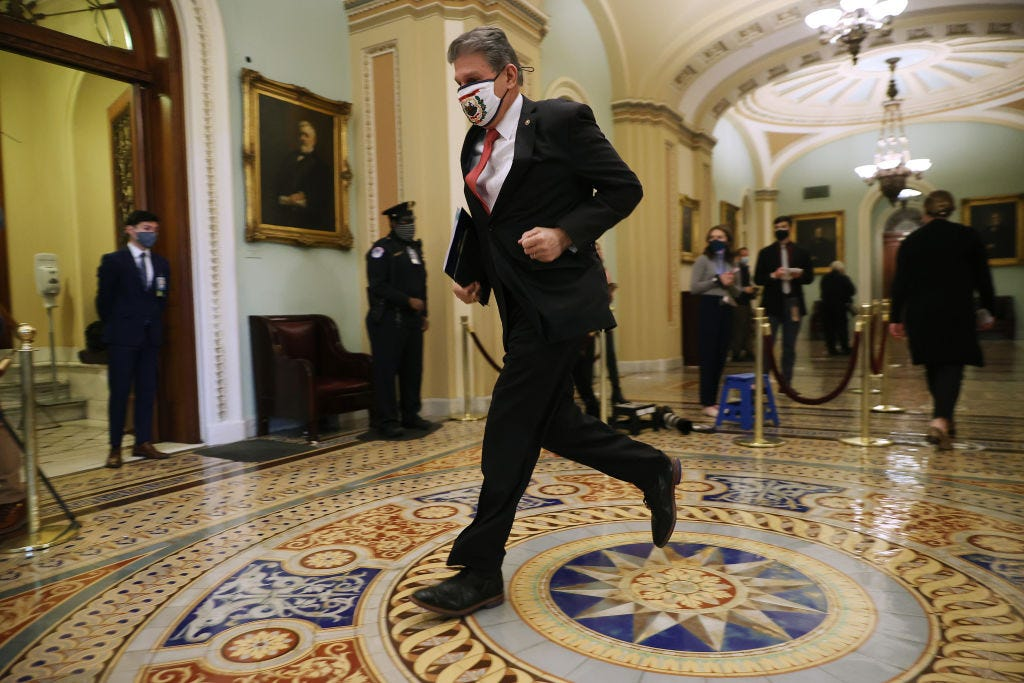Sen. Joe Munchin at the Capitol