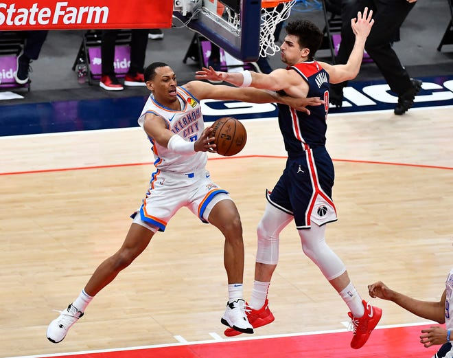 Thunder forward Darius Bazley scored a career-high 26 points Monday night against the Wizards.