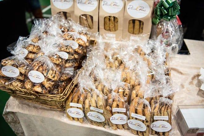 La boulangerie Dolce e Ban propose une variété de macarons et de biscuits moelleux.