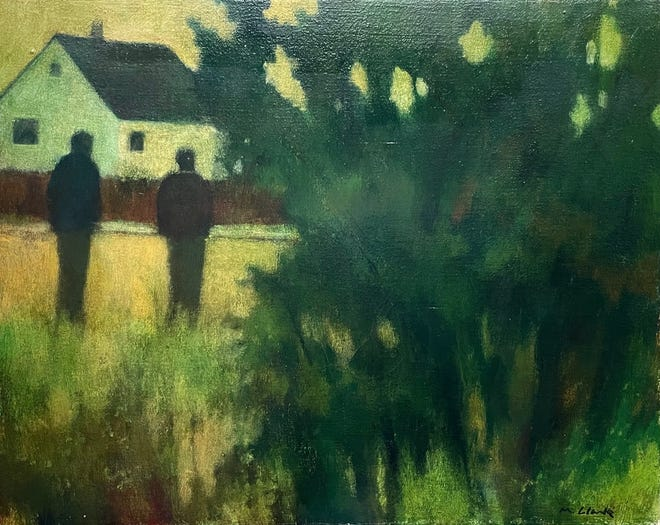 'Back Field Conversation,' Mark Clarke, now showing at the Karin Clarke Gallery.