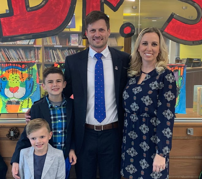 """Joseph """"Joey"""" Brightbill has been hired as principal of Lake Elementary, beginning Aug. 1. Brightbill and wife, Ashley, have two boys, Hudson, 8, and Harrison, 4."""