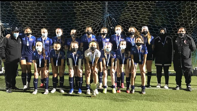 The Rockford Raptors U-15 girls went undefeated, and weren't even scored upon, while winning the 2021 Puri Champions Cup soccer tournament at Sportscore Two last weekend.