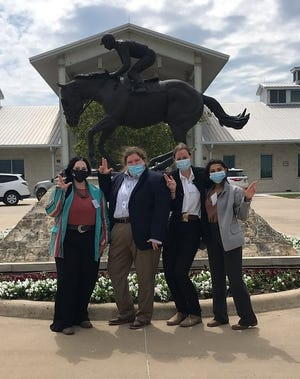 Tarleton Horse Judging Team members Gracie Ayers, Nicole Bloch, Alicia Sanchez and Kacie Gray recently took part in TSU's first-ever Spring Sweepstakes.