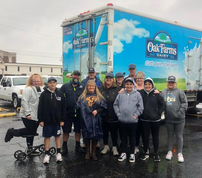 Dairy Farmers of America, Dairy Max and Oak Farms Dairy provided milk for the Stephenville Community Pantry held on April 16. Not only did they provide the milk, they helped distribute food in the pouring rain, according to a social media post from HOPE Inc.