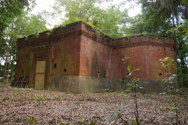 The Savannah Powder Magazine was built in 1898 to house the city's supply of gun powder and dynamite.