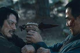 """Hiroyuki Sanada and Joe Taslim in """"Mortal Kombat."""" The action movie inspired by the blockbuster video game franchise opens Friday at Cinema Centre 8 and Movies 6 at the Shawnee Mall."""