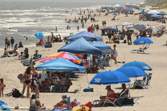 New Hanover County's beaches drew tourism to the area during the summer of 2020 as visitors looked to socially distance outdoors.