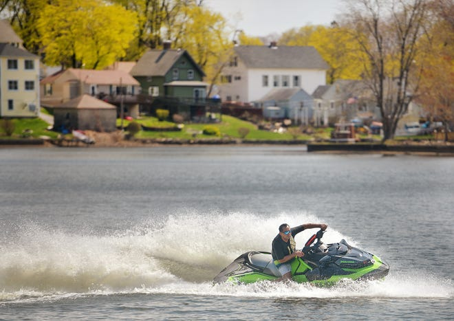 Raul Urbina of Rutland enjoys an afternoon on Indian Lake with his Jet Ski this past spring.
