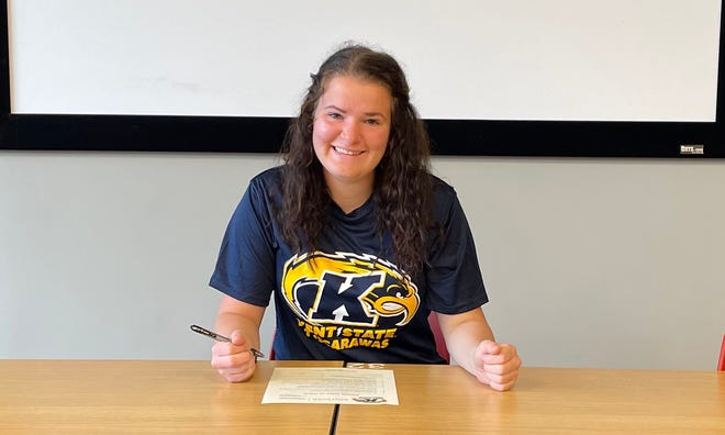 Tusky Valley's Katie Burrier will play college basketball at Kent State University at Tuscarawas.