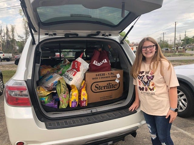 Girl Scout Troop 429 in Panama City recently gathered more than 500 pounds of pet food and supplies for the Salty Cats of St. Andrews Rescue effort.