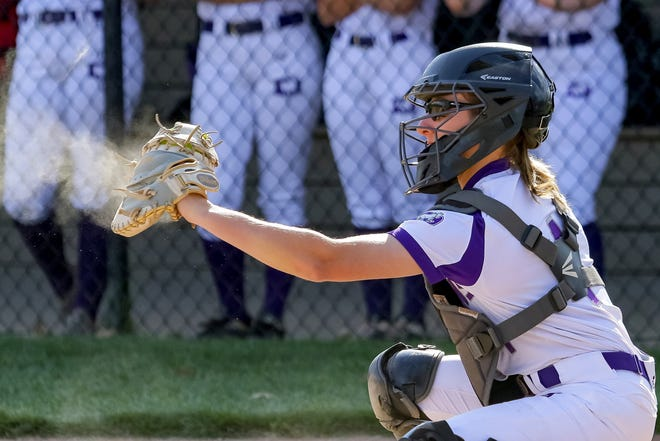 DeSales senior catcher Kendall Gonya plans to use her softball leadership skills in a different way in college, as a coxswain for the Michigan State women's rowing team.