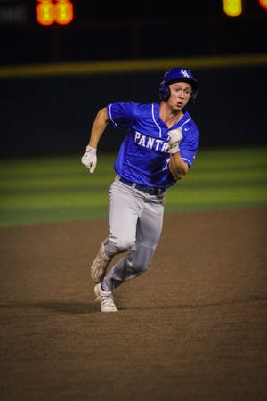 Dakota Howard running the bases for the Panthers.