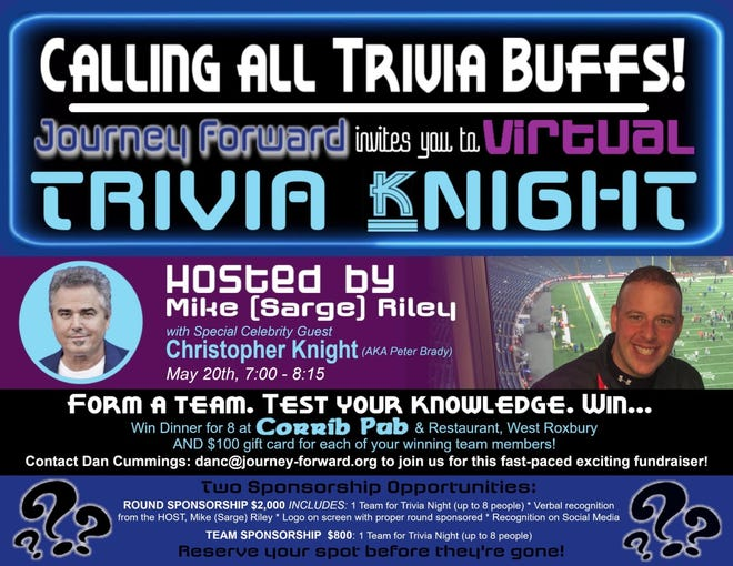 Canton's Journey Forward will host a Virtual Trivia Knight from 7 to 8:15 p.m. May 20.