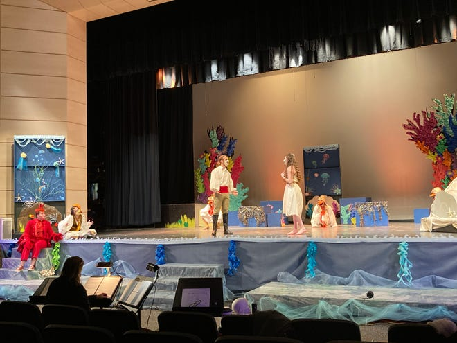 """The Silver Lake Regional High School cast of """"The Little Mermaid"""" is being filmed for the streaming of the musical April 29 and 30 and May 1."""