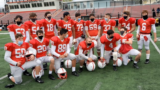 After shutting out rival Wakefield, 35-0 last Saturday at home to extend their winning streak to 20, the Melrose High School football seniors got together in the middle of Fred Green Memorial Field to reflect on the program's success with Melrose Free Press and Wicked Local Melrose correspondent Dom Nicastro.