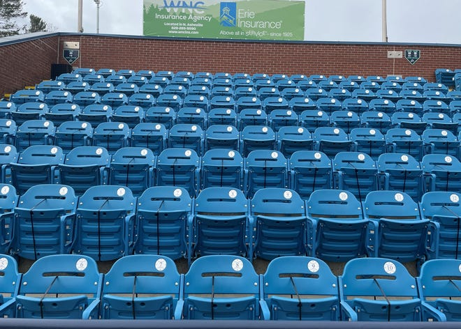 "The Asheville Tourists baseball team will restrict seating at McCormick Field to 30% for 2021, although that could change if North Carolina Gov. Roy Cooper issues updated mandates on capacity and social distancing. The ball club has zip tied a lot of seats already, and will be selling seats in ""pods,"" ranging from 1-6 seats."