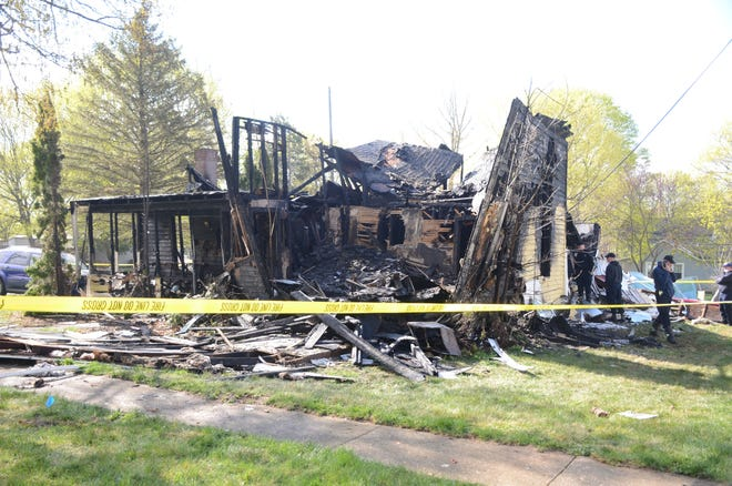 The home at 532 Clinton St. the day of the explosion and fire on April 12.