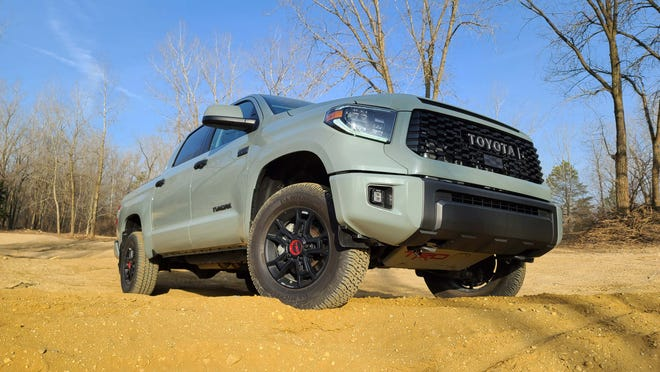 King of the hill. The 2021 Toyota Tundra TRD Pro has nearly 11 inches of ground clearance to play in the dirt.