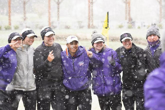 The University of Evansville women's golf team won the Missouri Valley Conference title on Tuesday in St. Charles, Missouri.